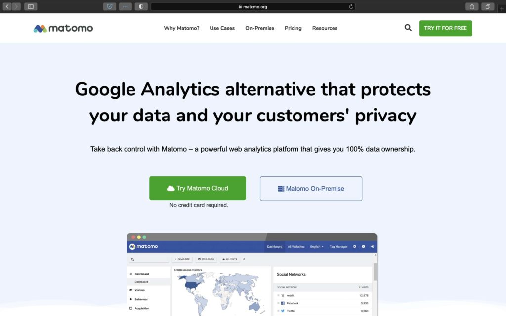 Own you data and protect your user's privacy with Matomo