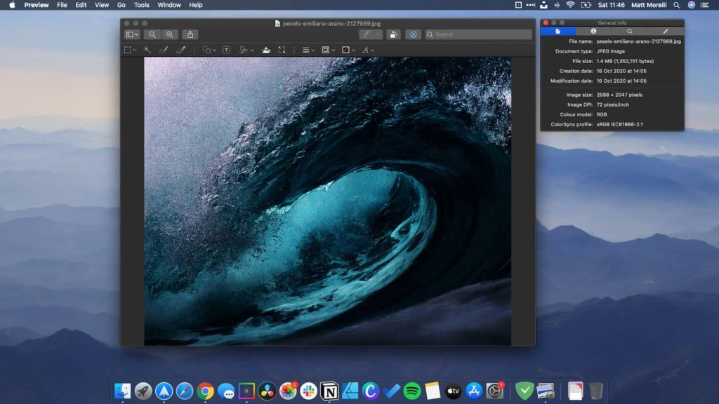 I use Preview for quick image editing